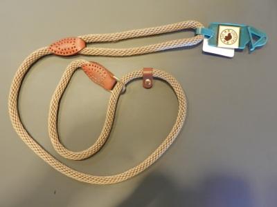 Hundezugleine Luxury Rope Tau mit Leder