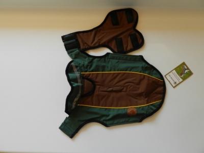 Hundemantel Harness grün - braun