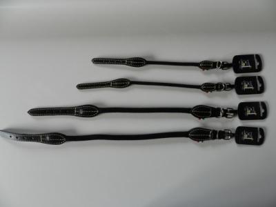 Cotton Deluxe Halsband ebenholz - schwarz