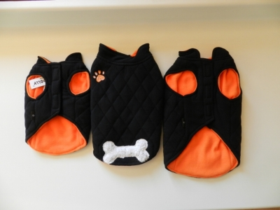 Dog vest Fleece Bone black