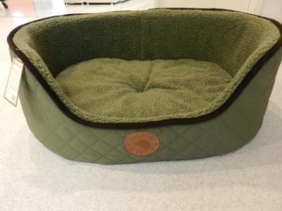 Country Pet Dog Bed Berber Fleece Green